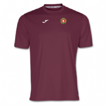 Ballynahinch Olympic FC Combi T-Shirt Burgundy - Youth 2018